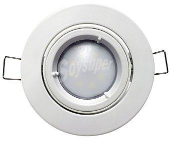 SEVENON Foco empotrable led orientable con forma redonda y con bombillas led de 5 Watios 1 unidad