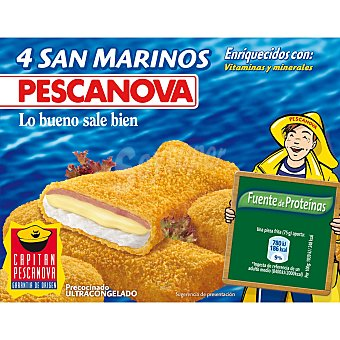 Pescanova San Marinos con jamón y queso 300 g