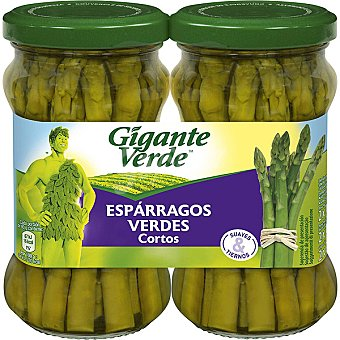 Gigante Verde Esparragos verdes especiales para revuelto pack 2 frasco 110 g neto escurrido Pack 2 frasco 110 g
