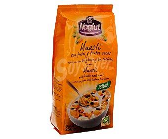 NOGLUT Cereales muesli con frutas y frutos secos aptos para dietas sin gluten y sin lactosa (controlado por la face) 250 gramos