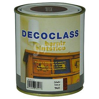 DECOCLASS Barniz sintético mate color teca 750 ml