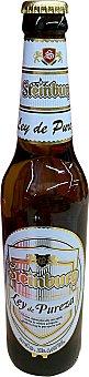 Steinburg Cerveza alemana ley pureza (Malta, cebada, agua, lúpulo) Botellín de 500 cc
