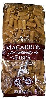 Hacendado Macarron fibra pasta Paquete 500 g