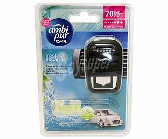 AMBIPUR CAR Difusor con ambientador de coche para rejilla de ventilación, con olor a colonia de bebe 1 unidad