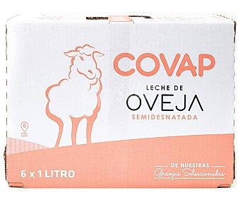 Covap Leche de oveja semidesnatada, de origen español 6 x 1 l