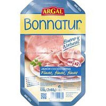 Bonnatur Argal Jamón cocido lonchas finas Pack 2x60 g