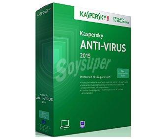 KASPERSKY Antivirus 3Pc's 2015 1 unidad