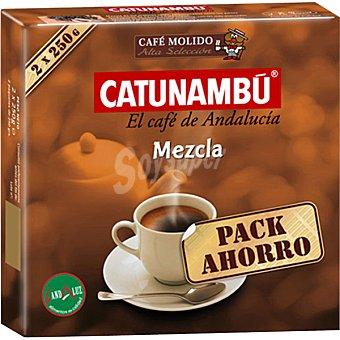Catunambu Café molido mezcla paquete 500 g 2x250 g