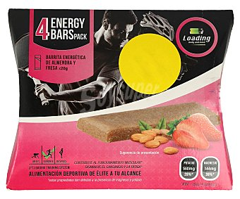 Barritas energéticas fresa y almendras loading 4 x 50 gr