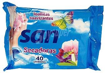 San Suavizante ropa concentrado secadora toallitas Caja 40 u
