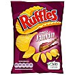 Patatas fritas sabor a jamón onduladas bolsa 170 g Ruffles