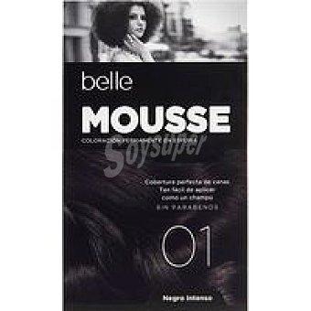 N.1 Belle & Professional Tinte mousse negro azul. Caja 1 unid