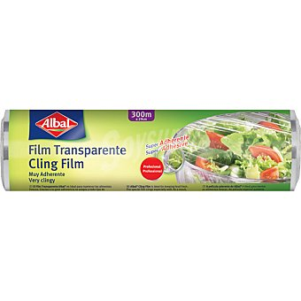 Albal Film transparente aroma protege los nutrientes y el sabor profesional rollo 300 m