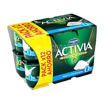 Danone Yogur bifidus activia desnatado natural edulcorado Pack 12 x 125 g - 1,5 kg