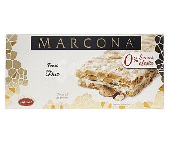 Marcona Turrón duro sin azúcares añadidos y sin aceite de palma 200 g