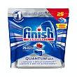 Lavavajillas maquina pastillas quantum max Paquete 25 u Finish
