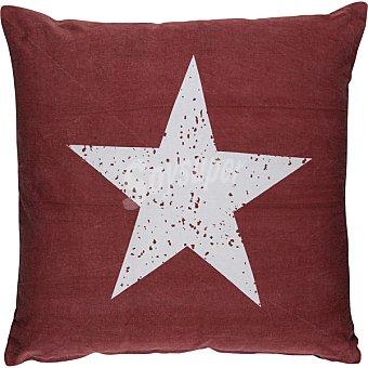 CASACTUAL Cojin con dibujo de estrella en azul y rojo