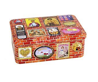 Virojanglor Caja metálica para azucar, modelo Brique, diseño retro, 19x12x7 centímetros 1 Unidad