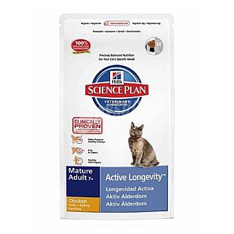 HILL'S SCIENCE PLAN MATURE ADULT Active Longevity Alimento especial para gatos +7 años con pollo para una longevidad activa Bolsa 2 kg