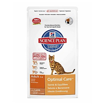 HILL'S SCIENCE PLAN ADULT Optimal Care Alimento especial para gatos adultos con cordero para un cuidado optimo Bolsa 2 kg