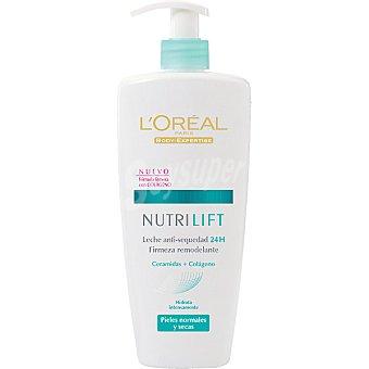 Nutrilift L'Oréal Paris Leche anti-sequedad 24 h firmeza remodelante piel normal y seca dosificador 400 ml