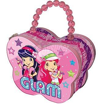 TARTA DE FRESA Maleta con eau de toilette infantil spray 50 ml + brillo de labios + 2 clips cabello Spray 50 ml