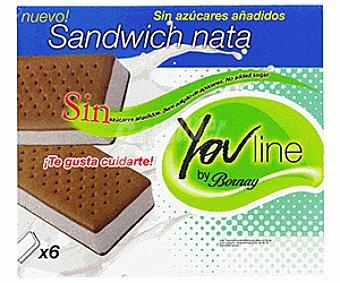 Bornay Sandwich de Nata sin Azúcar 6x100ml
