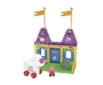 PEPPA PIG Caja con 88 bloques de construcción de colores Casa de Peppa Pig, figura de Peppa Pig y pegatinas 1 unidad