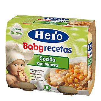 Hero Babyrecetas Tarrito de cocido con ternera Pack 2x200 g