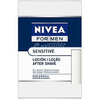 Nivea after shave loción Sensitive sin alcohol For Men frasco 100 ml
