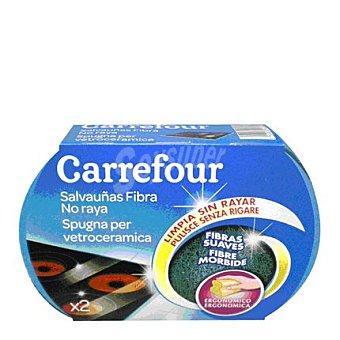 Carrefour Estropajo salvauñas azul 2 ud