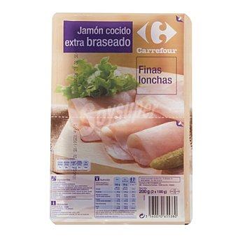 Carrefour Jamón cocido braseado 200 g