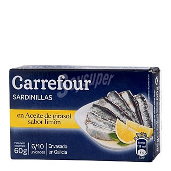 Carrefour Sardinilla con limón en aceite vegetal 60 g