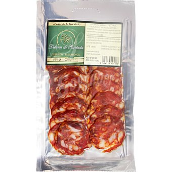 DELICIAS DE HURTADA Chorizo ibérico extra de Salamanca en lonchas envase 50 g