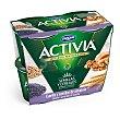 Yogur con bífidus naturales, espelta y semillas de amapola Pack 4 u x 120 g Activia Danone