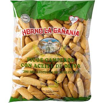 HORNO LA GAÑANIA Picos de pan artesanos con aceite de oliva Bolsa 250 g