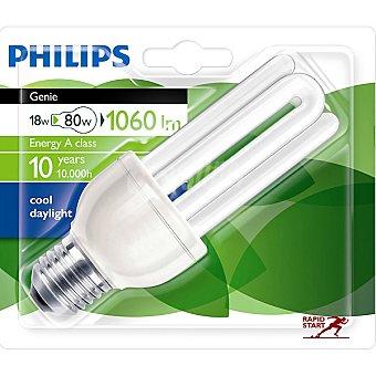 Philips (80 W) lámpara ahorro blanco frío casquillo E27 (grueso) 220-240 V  Genie 18 W 1 unidad