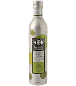 Carrefour Selección Aceite de oliva Virgen Extra Selección en botella de aluminio D.O. Sierra Segura Botella de 50 cl