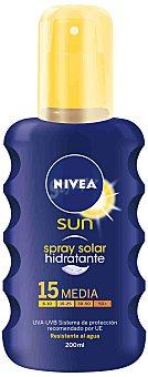 Nivea Sun Spray Solar Emulsión. Factor de Protección 15 200 Mililitros