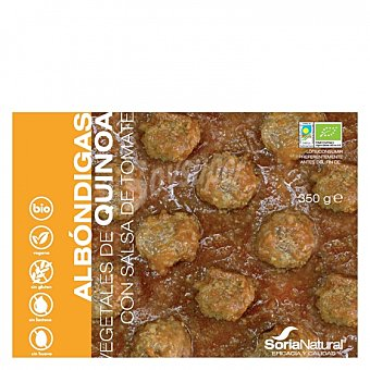 Soria Natural Albóndigas de quinoa ecológicas sin gluten y sin lactosa 370 G 370 g