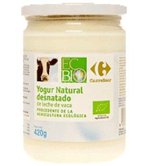 Carrefour Bio Yogur natural desnatado de leche de vaca 420 g