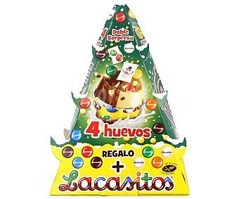 Lacasitos Lacasa Huevos sorpresa de chocolate, àrbol de Navidad 4 u
