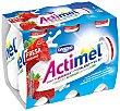 Yogur liquido fresa pack 6 uds 100 ml Actimel Danone