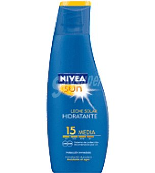Nivea Sun Leche solar hidratante factor de protección 15 Bote 200 ml