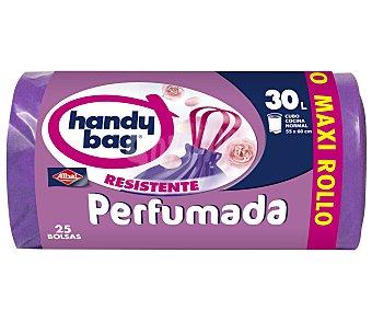 handy bag Bolsas de basura maxi perf. 30 l. Paquete 25 unid