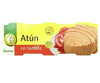 PRODUCTO ECONÓMICO ALCAMPO Atún en tomate 3 unidades de 52 gramos
