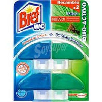 Bref WC Limpiador wc colgador líquido verde 2 unid