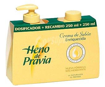 Heno de Pravia Jabón líquido Dosificador 250 ml. + recambio de 250 m