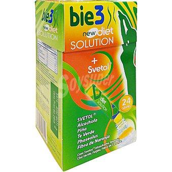 BIO3 Diet Solution Eliminación de líquidos bebida para preparar envase 24 sobres