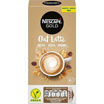 Nescafé Gold café soluble con leche de avena 6 sobres Estuche 96 g